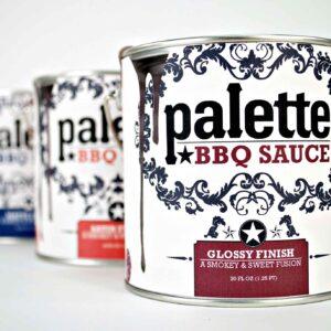 Palette BBQ Sauce Package Design